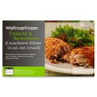 Waitrose frozen 2 Scottish mackerel fillets in oat crumb