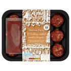 Waitrose 12 mini Hickory smoked beef burgers - 330g