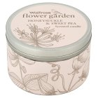 Waitrose FG honeysuckle tin candle - each