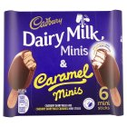 Cadbury Dairy Milk minis & caramel minis - 6x50ml Introductory Offer