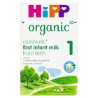Hipp Organic first infant milk (from birth onwards) - 800g Brand Price Match - Checked Tesco.com 10/03/2014