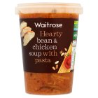 Waitrose bean & chicken soup with pasta - 600g