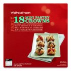 Waitrose 18 frozen mini pastry crowns - 252g