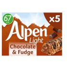 Alpen 5 light bars chocolate & fudge - 95g Brand Price Match - Checked Tesco.com 09/12/2013