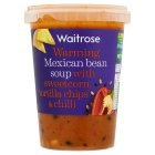 Waitrose Mexican bean soup with sweetcorn - 600g