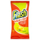 Flash Wipe & Go Mediterranean Lemon Cleaning Wipes - 40s Brand Price Match - Checked Tesco.com 03/08/2015