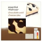 essential Waitrose chocolate swirl cheesecake - 440g