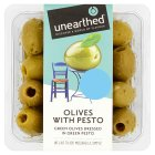 Unearthed green olives with pesto and pine nuts - 235g