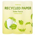 Waitrose recycled paper toilet tissue white - 9s