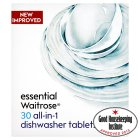 essential Waitrose 30 all in one dishwasher tablets