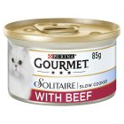 GOURMET Solitaire Adult Cat Premuim Mini Fillets with Beef and Tomato Wet Food Can - 85g