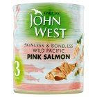John West skinless & boneless pink salmon - 3x125g