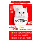 Gourmet Mon Petit Cat Food Pouches Duo Mixed - 6x50g