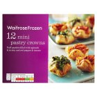 Waitrose Frozen 12 mini pastry crowns - 168g