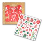 Waitrose Christmas Glitter Cards - 10s