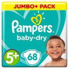 Pampers Baby-Dry 5+ Junior 13-25kg - 68s