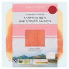 Waitrose Scottish oak smoked salmon minimum 4 slices - 100g