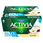 Donone Activia fat free vanilla yogurts - 4x125g Brand Price Match - Checked Tesco.com 05/03/2014