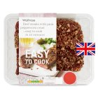 Waitrose Easy To Cook 2 British beef steaks| pink peppercorn crust - 250g