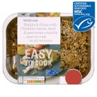 Waitrose MSC Easy To Cook 2 haddock fillets with cheese, basil & parmesan crumble - 260g