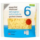 essential Waitrose lighter extra mature grated cheese, strength 6 - 250g