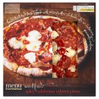 menu from Waitrose spicy Calabrian salami pizza