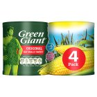 Green Giant canned original sweetcorn, 4 pack - drained 4x165g