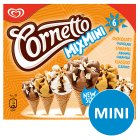 Cornetto Mix Mini chocolate, caramel & classico 6 pack ice cream cone - 360ml