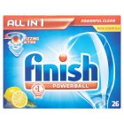 Finish All in One, 26 lemon dishwasher tablets - 483g