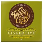 Willie's Cacao ginger lime 70 - 50g