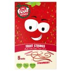 The Fruit Factory fruit strings strawberry - 5x20g