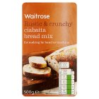 Waitrose ciabatta bread mix - 500g