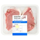 essential Waitrose 2 British pork chops - 540g