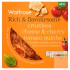 Waitrose crustless cheese & cherry tomato quiche - 340g