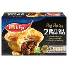 Birds Eye 2 puff pastry British steak pies - 360g