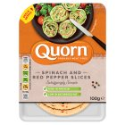 Quorn Spinach & Red Pepper Slices - 100g