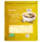Waitrose grated Swiss medium Gruyère cheese, strength 3 - 200g