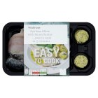 Waitrose Easy to Cook 2 sea bass fillets with fennel butter - 185g