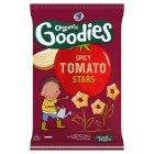 Organix goodies organic spicy tomato stars - 4x15g Brand Price Match - Checked Tesco.com 05/03/2014