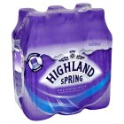 Highland Spring, spring still water, 6 pack - 6x500ml