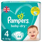 Baby Dry 4 Essential 45 Nappies (44s)
