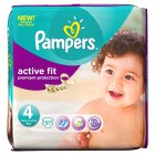 Pampers active fit 4 maxi 7-18kg - 37s Brand Price Match - Checked Tesco.com 04/12/2013