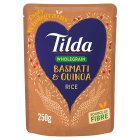 Tilda brown basmati quinoa wholegrain rice - 250g
