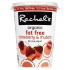 Rachel's organic fat free strawberry & rhubarb yogurt - 450g