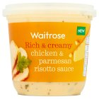 Waitrose chicken & parmesan risotto sauce - 400g Introductory Offer