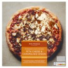 Waitrose hand stretched, thin & crispy caramelised onion & feta cheese pizza - 440g