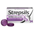 Strepsils Lozenges Blackcurrant - 24s