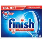 Finish All in One, 26 dishwasher tablets - 483g