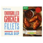 Waitrose Chargrilled Chicken Fillets & Mole Dip - 150g