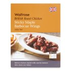 Waitrose British sticky maple BBQ roast chicken wings